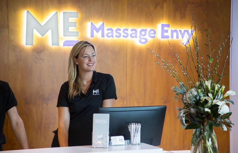 Massage Envy front counter
